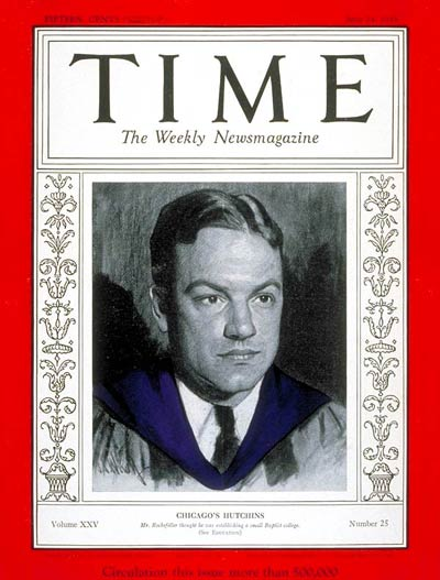 Robert Hutchins Time Magazine cover