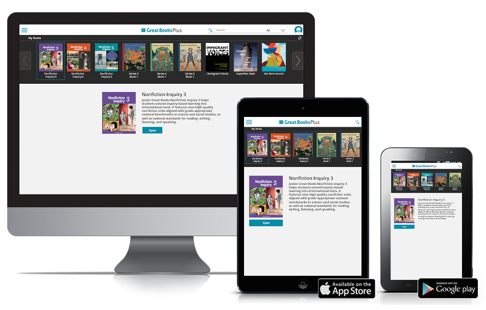 Great Books Plus, the Great Books online learning platform across devices