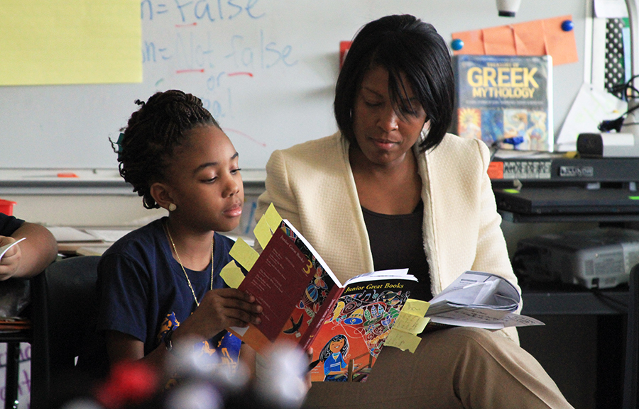 Great Books trained teacher uses inquiry based learning to engage student