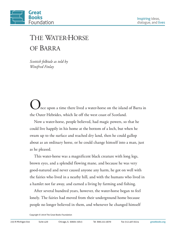 The Water-Horse of Barra