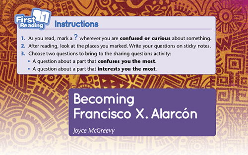 Becoming Francisco X. Alarconón Sample Lesson Plans